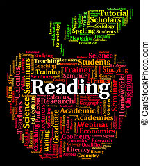 Reading Word Shows Glance Through And Peruses - Reading Word...