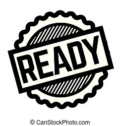 ready black stamp on white background. Sign, label, sticker