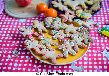 Ready Christmas gingerbread cookies for Christmas