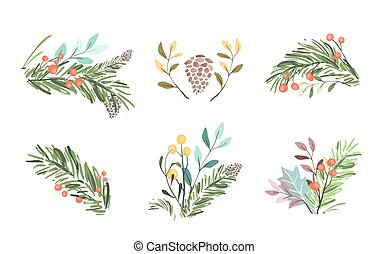 Ready Christmas New Year winter designs for greeting cards, postcards web and prints.
