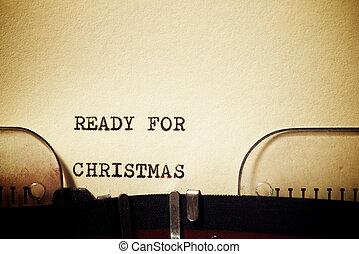 Ready for Christmas phrase