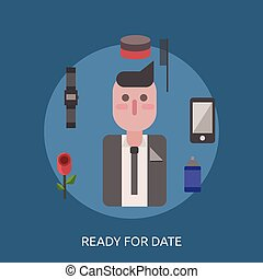 Ready For Date Conceptual illustration Design