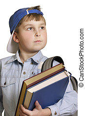 Ready for school - Child with textbooks