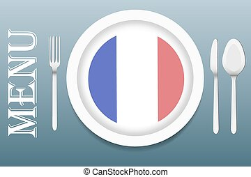 Ready for serving French cuisine vector