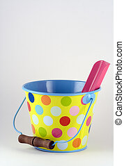 Ready for the Beach - A bucket and spade for sandcastles