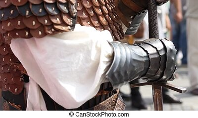 Ready for War Knigh - Knight with hands over the sword...