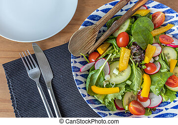 ready to eat fresh summer salad