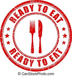 Ready to eat stamp