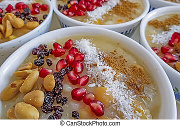 ready to eat traditional turkish dessert asure