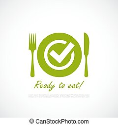 Ready to eat vector pictogram