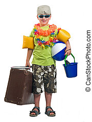 Ready To Go On Vacation - This boy is ready to go on summer...