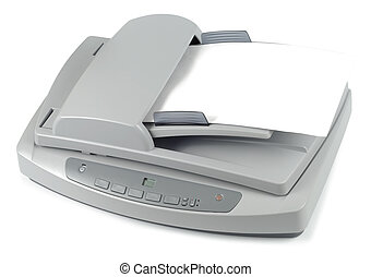 Ready To Scan - Office scanner isolated with clipping path...