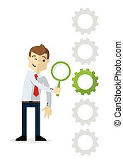 Businessman find a solution - Ready to use website ...