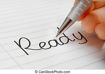 Ready word handwriting