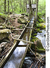 reagan mill, smoky mountains - Old grist mill in Great Smoky...