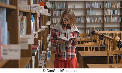 Reaing a Book in Library