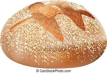 realístico, 3d, isolado, pão