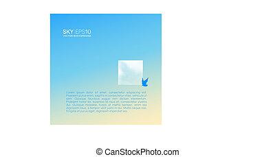 realístico, beige-blue, céu