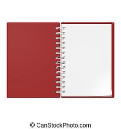 realístico, caderno
