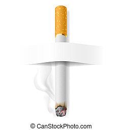 realístico, cigarro