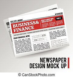 realístico, econômico, jornal