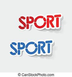 realístico, element:, desporto, desenho