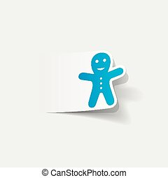 realístico, element:, gingerbread, desenho, homem