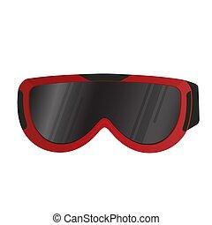 realístico, esqui, goggles., olho, protection., desporto, equipment.