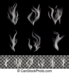realístico, fumaça, vetorial