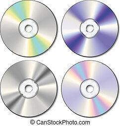 realístico, jogo, cd