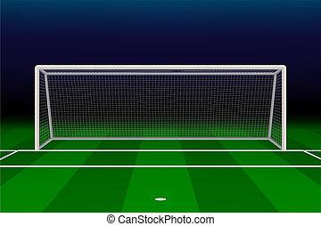realístico, meta futebol americano