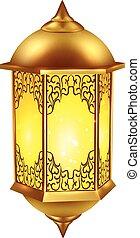 realístico, ramadan, ícone abajur