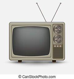 realístico, tv., antigas, vindima