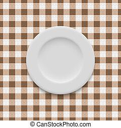 realístico, vazio, prato