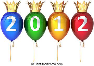 real, ano, novo, feliz, balões, 2012
