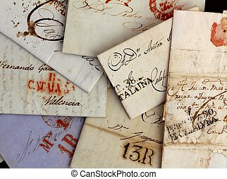 real, antigas, anônimo, letras, espanha, manuscrito