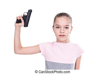 real, arma, criança