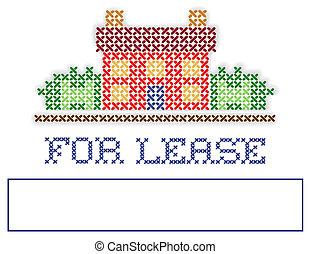real, arrendamento, jarda, propriedade, sinal