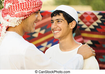 Real authentic arabic ethnicity people
