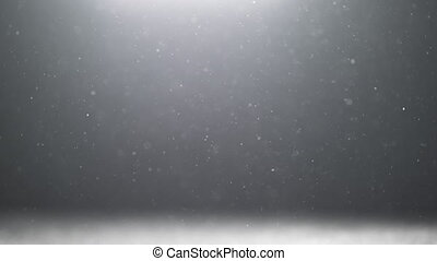 real backlit dust particles with real lens flare floating in slow motion black and white