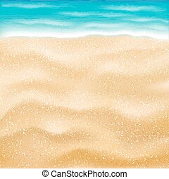 real bright sea sand beach background vector