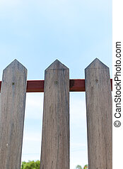 Real brown Wooden fence