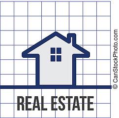 real, casa, grade, propriedade