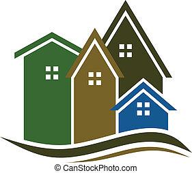 real, casas, propriedade