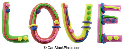 Real cheerful plasticine alphabet