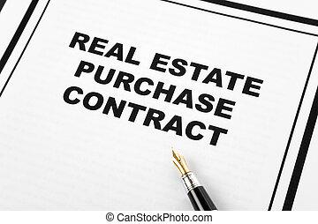 real, compra, propriedade, contrato