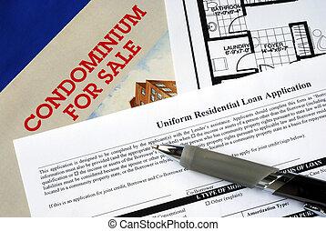 real, compra, propriedade, hipoteca, aplicação, propriedade,...