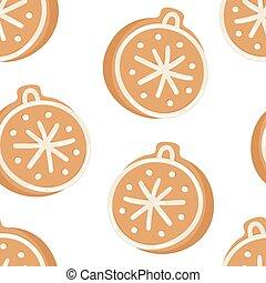 real, cookies., toy., criativo, seamless, ilustração, mão, vetorial, gengibre, feriados, padrão, desenhado, caricatura, assar, natal, pão