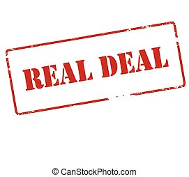 Real deal - Rubber stamp with text real deal inside, vector ...