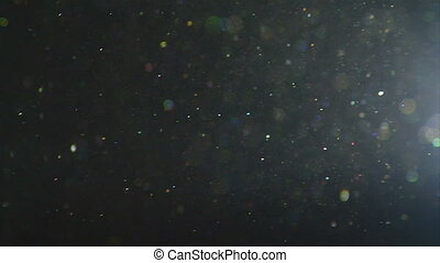 Real dust particles flicker slow - This is a close up shot...